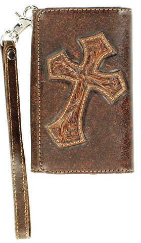 (MFW0617802) Western iPhone4 Case/Wallet with Diagonal Cross