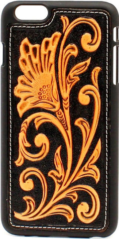 (MFW0660667) Western iPhone 6+ Floral Snap-On Case Black & Tan