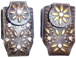 (MFW06840) Western Cell Phone Holder with Flower Design