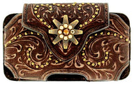 (MFW0686402) Western iPhone4/PDA Cellphone Holder Brown