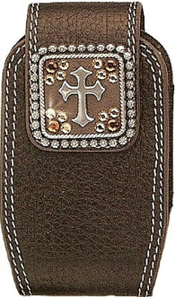 (MFW0689202) Western Cross Cell Phone Holder with Swivel Clip (for iPhone4)