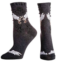 (MFW10009394) Winged Crossing Revolvers Ladies' Fashion Crew Socks Charcoal