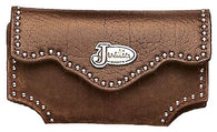 (MFW1748044) Justin Western iPhone/Blackberry Cell Phone Holder Medium Brown Distressed