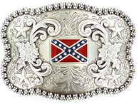 (MFW3757643) Rebel Flag Confederate Belt Buckle