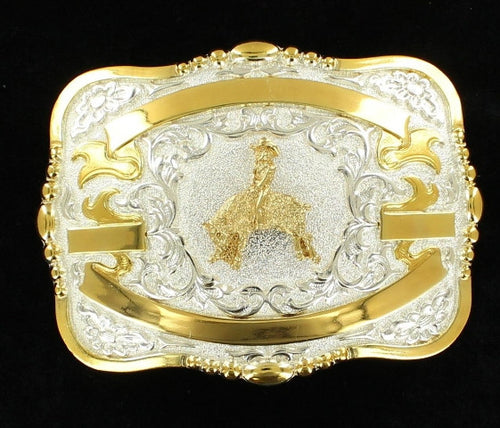 (MFW38564) Western Trophy Buckle with Mutton Bustin' and Free Engraving
