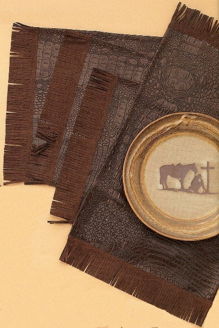 (MFW61212) Rustic Ranch Western Placemats (Set of 4)