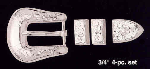 (MFWC10818) 3/4-Inch 4-pc. Silver Buckle Set