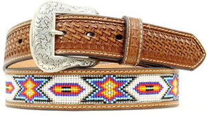 "(MFWN2412608) Men's Western Beaded Belt 1-1/2"" Wide"