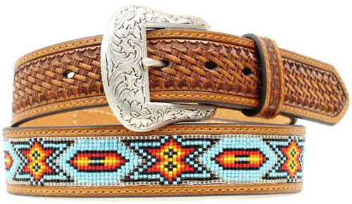 (MFWN2412808) Men's Western Beaded Belt 1-1/2