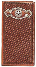Load image into Gallery viewer, (MFWN5420208) Western Tan Rodeo Wallet with Texas Star Concho