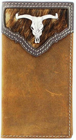 (MFWN5437644) Western Youth Rodeo Wallet with Longhorn Concho
