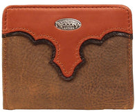 (MFWN54824216) Western Two-Toned Leather Bi-Fold Wallet by Nocona