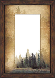 Misty Forest Framed Mirror