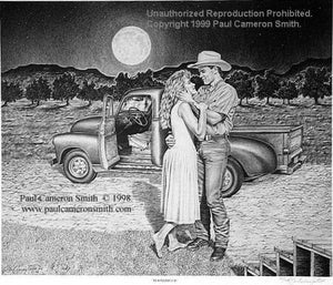 """Moonstruck"" Limited Edition Print by Paul Cameron Smith 18"" x 24"""