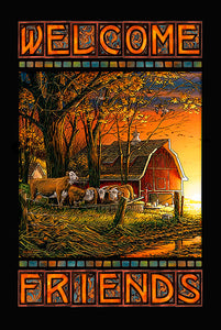 Morning Surprise Farm House Stained Glass Art