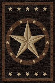 "(MR-HS3683-2x3) ""Western Star"" Area Rug (26"" x 39"")"