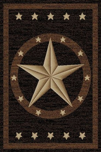 "(MR-HS3683-5x8) ""Western Star"" Area Rug (5'3"" x 7'3"")"