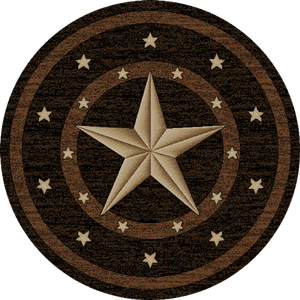 "(MR-HS3683RND5) ""Western Star"" Round  Area Rug 5'"
