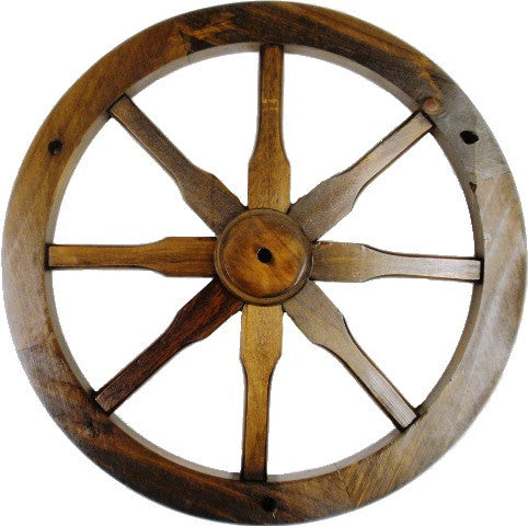 (MRWW) Western Solid Pine Decorative Wagon Wheel - 18