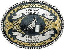 Load image into Gallery viewer, (MS2164BN) Western Tri-Color Black Nickel Trophy Buckle