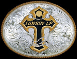 "(MS2165-101015) ""Cowboy Up"" Western Belt Buckle"
