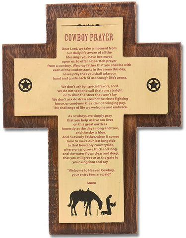 "(MS22756) ""Cowboy Prayer"" Western Sign"