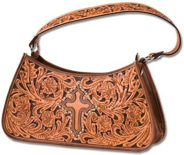 (MS25615) Western Two-Toned Cross Hobo Bag/Purse