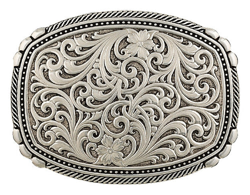 (MS28400RTS) Western Antiqued Pinpoints and Twisted Rope Belt Buckle