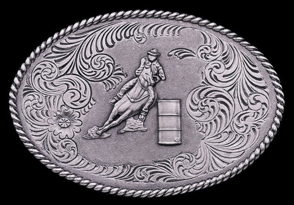 "(MS60606) ""Barrel Racer"" Western Trailer Hitch Cover"