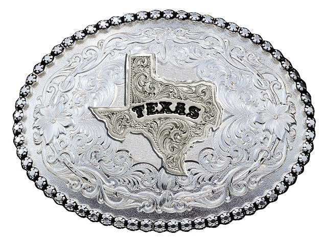 (MS6189SV-610TX) Anitqued Silver Texas Belt Buckle by Montana Silversmiths