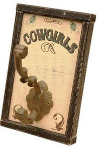 "(MS70752) ""Cowgirls"" Towel Hook"