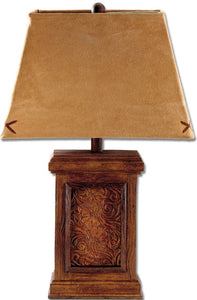 "(MS70962) Western ""Tooled"" Lamp"