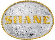 "(MS890) ""The Name Buckle"" Western Belt Buckle"
