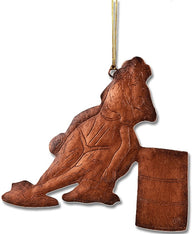 "(MS95738) ""Barrel Racer"" Western Copper Christmas Ornament"