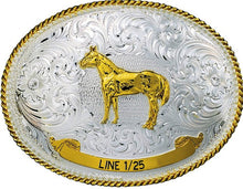 Load image into Gallery viewer, (MS991) Western Two-Tone Trophy Buckle