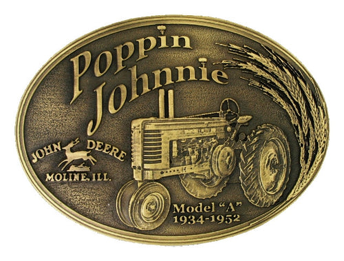 (MSA182JDC) John Deere Model A Poppin Johnnie Heritage Belt Buckle