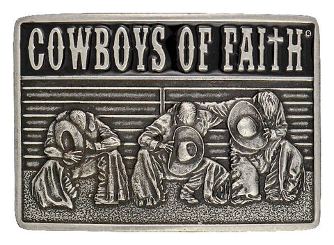 "(MSA352) ""Cowboys of Faith"" Fellowship Belt Buckle"
