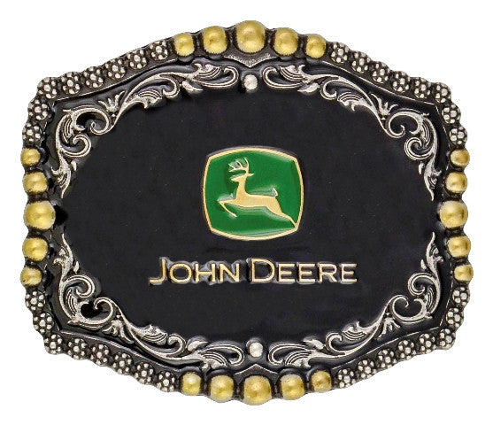(MSA450JD) John Deere Medium Scalloped Belt Buckle