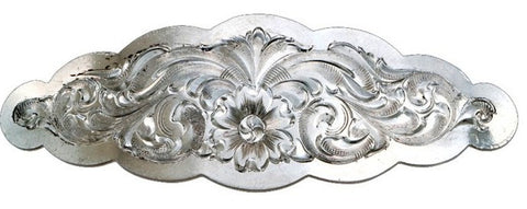 (MSBA1211) Western Silver Scalloped Hair Barrette