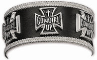 "(MSBC60516) ""Cowgirl Up"" Western Cuff Bracelet by Montana Silversmiths"