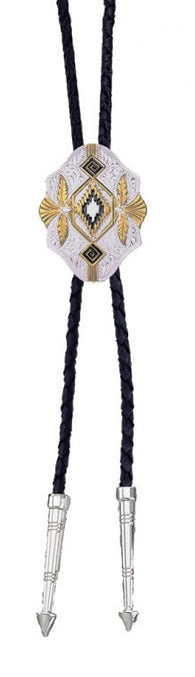 (MSBT190) Southwestern Aztec Bolo Tie - Made in America