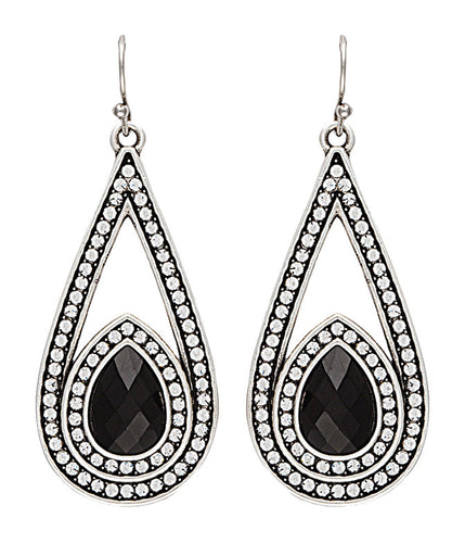 (MSER2122BR47) Western Campfire Coals Night Stone & Stars Drop Earrings by Wrangler