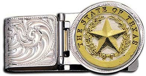 (MSMCL23-848) Western Texas Star Money Clip