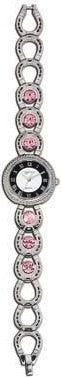 (MSMT61115PK) Western Ladies's Bezel Set Pink Horseshoe Watch