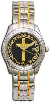 (MSMT61531) Western Ladies' Filigree Cross Face Watch