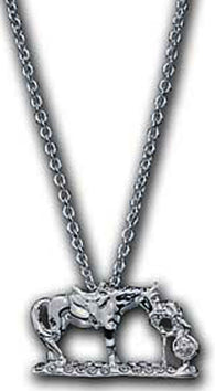 "(MSNC60838) ""First Love"" Western Silver Necklace by Montana Silversmiths"