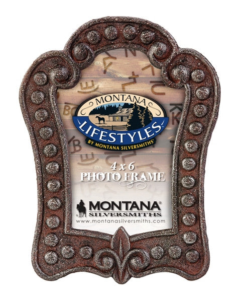 (MSPH175) Western Rustic Metal Studded Photo Frame (4