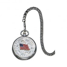 Load image into Gallery viewer, (MSWCHP38-876)  American Flag Pocket Watch