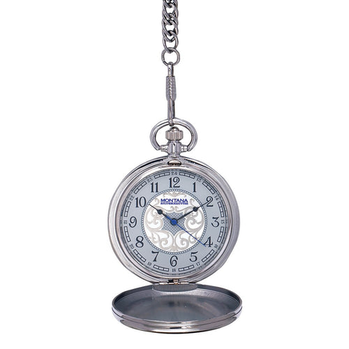 (MSWCHP38-848) Texas Star Pocket Watch by Montana Silversmiths