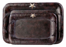 Load image into Gallery viewer, (MSWD101) Rustic Star Serving Trays (Set of 2)